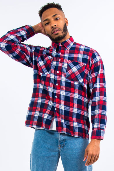 Vintage Red Check Flannel Shirt