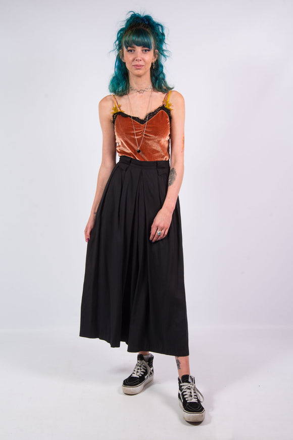 Vintage 90's Black Floaty Culottes