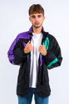 90's Colour Block Waterproof Rain Jacket