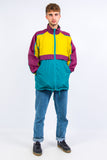 90's Colourblock Waterproof Cagoule Jacket
