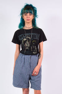 Vintage 90's Checked High Waist Shorts