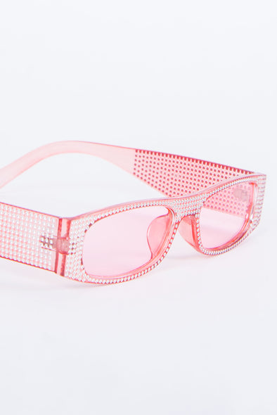 Y2K Kandy Pink Diamanté Sunglasses