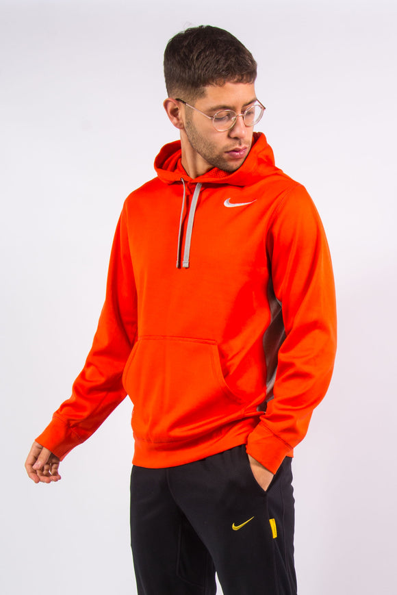 Nike therma-fit bright orange sports hoodie