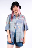 Vintage 90's Abstract Print Oversized Shirt