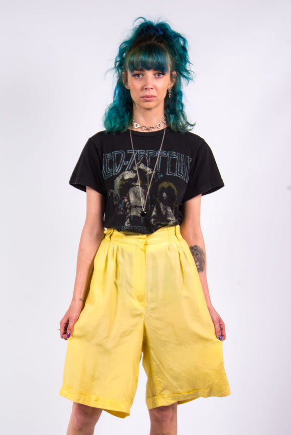 Vintage 90's Pastel Yellow Floaty Shorts