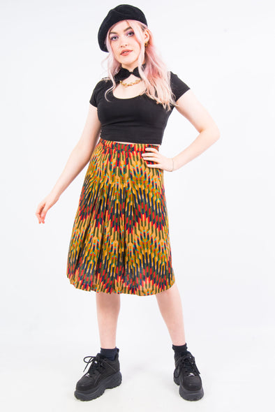 Vintage 70's Multicoloured Midi Skirt