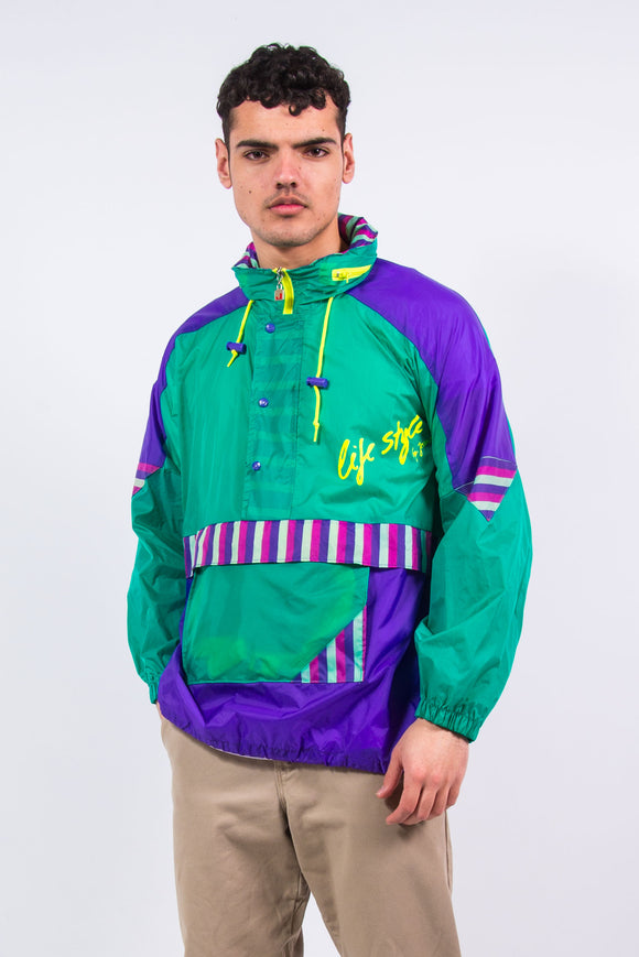 90's 1/4 Zip Waterproof Cagoule Jacket