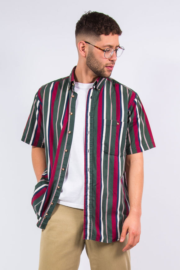 Vintage 90's Short Sleeve Striped Shirt
