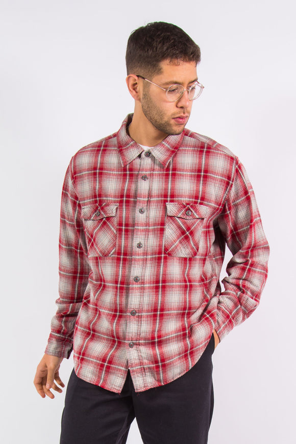 90's Vintage Red Flannel Shirt