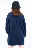 Vintage 90's Navy V-Neck Fleece Sweatshirt