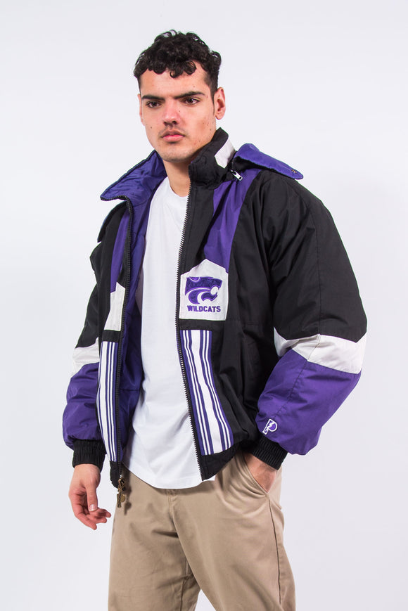 Vintage Kansas State Wildcats Reversible Padded Jacket