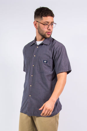 Vintage Dickies Short Sleeve Checked Shirt