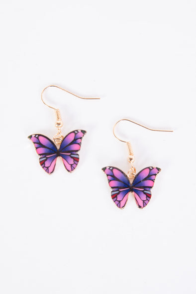 Cute Enamel Butterfly Earrings