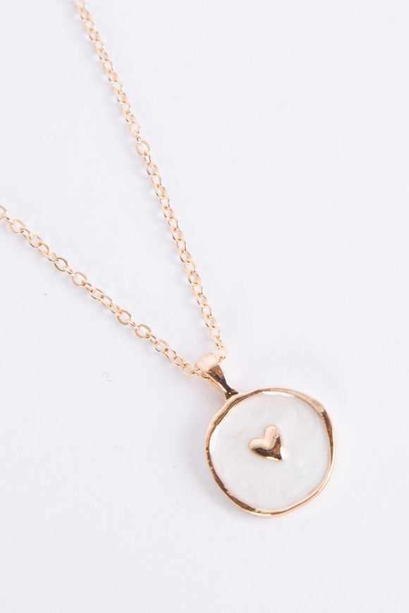 Cute Enamel Heart Pendant