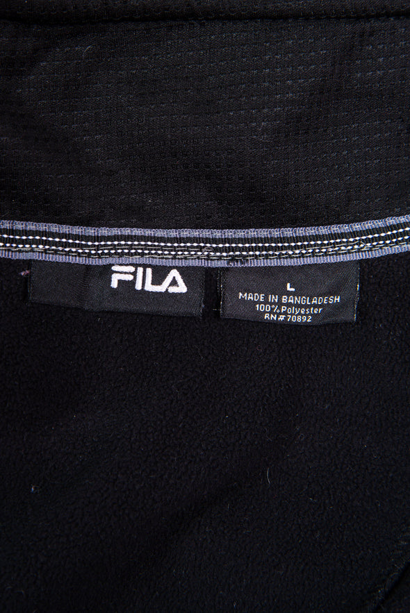 Y2K Fila Black 1/4 Zip Fleece