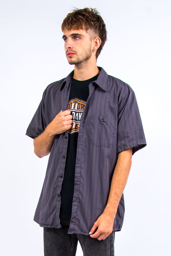 Vintage Grey Pin Stripe Work Shirt