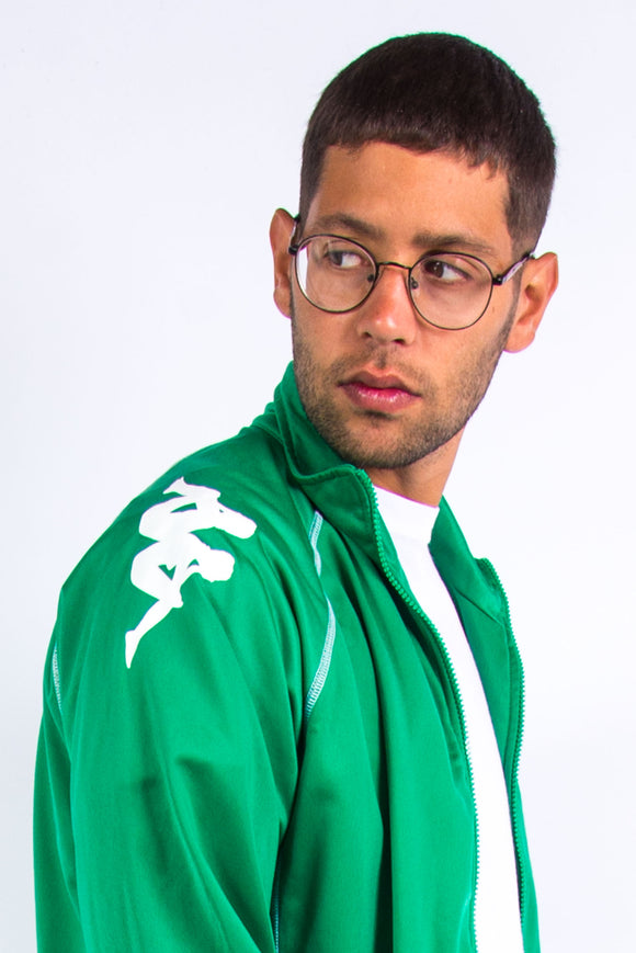 Y2K Green Kappa Tracksuit Top