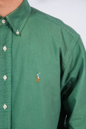 Vintage Ralph Lauren Green Striped Shirt