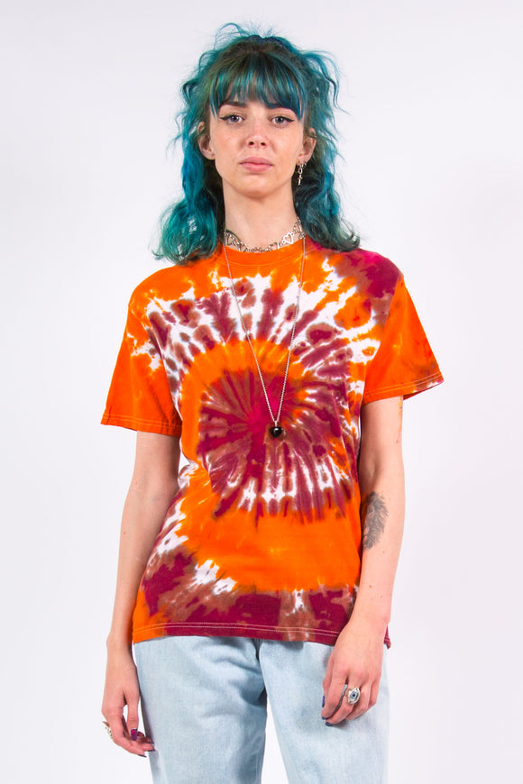 Vintage 90's Orange Tie Dye T-shirt