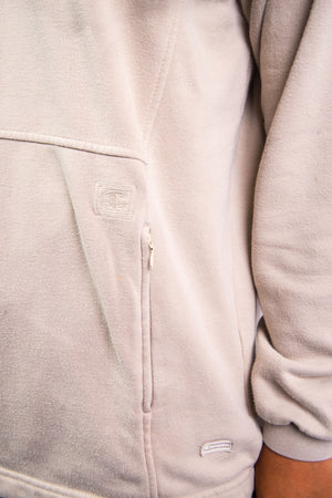 90's Champion Beige 1/4 Zip Sweatshirt