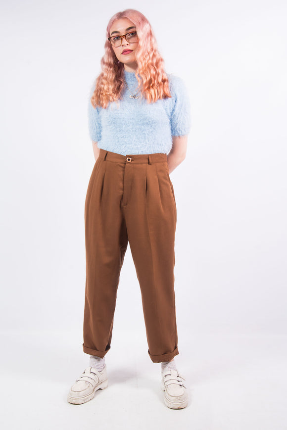 Vintage Tobacco Straight Leg Trousers