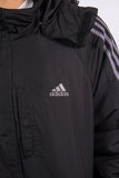 00's Adidas Black Padded Jacket Coat