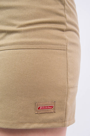 Vintage Rework Beige Dickies Mini Skirt