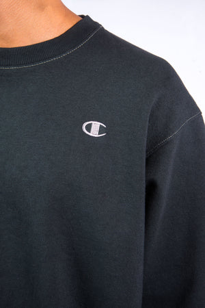 90's Black Champion Sweatshirt