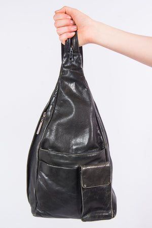 Vintage 90's Leather Backpack Rucksack