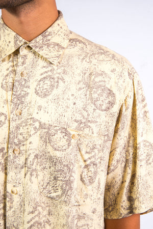 90's Abstract Pineapple Print Shirt