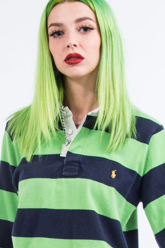 Vintage Cropped Ralph Lauren Rugby Shirt