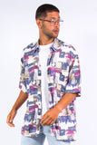 90's Abstract Patterned Shirt