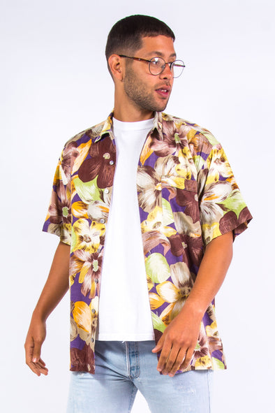 Vintage 90's Floral Pattern Vaction Shirt