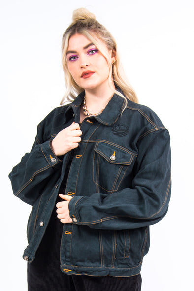 Vintage 90's Black Denim Jacket
