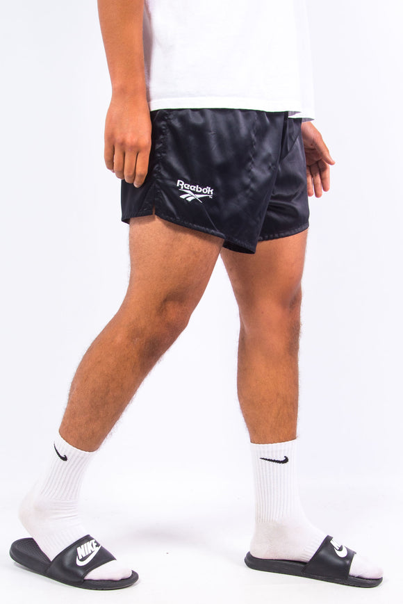 Vintage 90'S Reebok Black Shiny Shorts