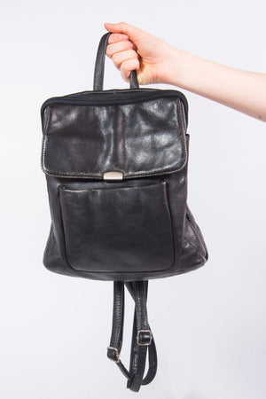 90's Leather Vintage Rucksack Backpack