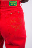 Vintage 90's MCM Red High Waist Mom Jeans