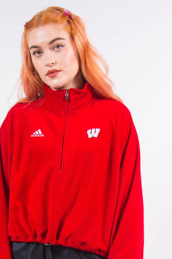 Vintage 90's Adidas Cropped 1/4 Zip Fleece