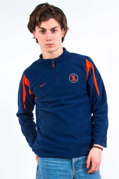 90's University of Illinois Nike 1/4 Zip Fleece