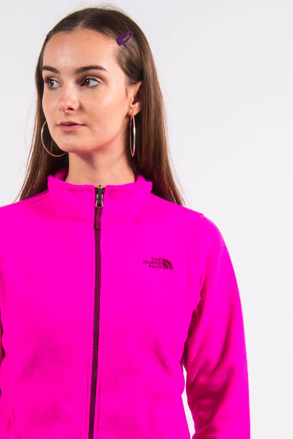 Vintage 90's Pink The North Face Fleece Jacket