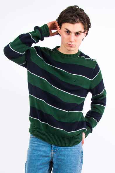 90's Nautica Stripe Knit Jumper