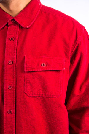 Vintage L.L. Bean Red Thick Flannel Shirt
