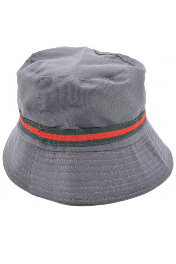Grey Festival Bucket Hat