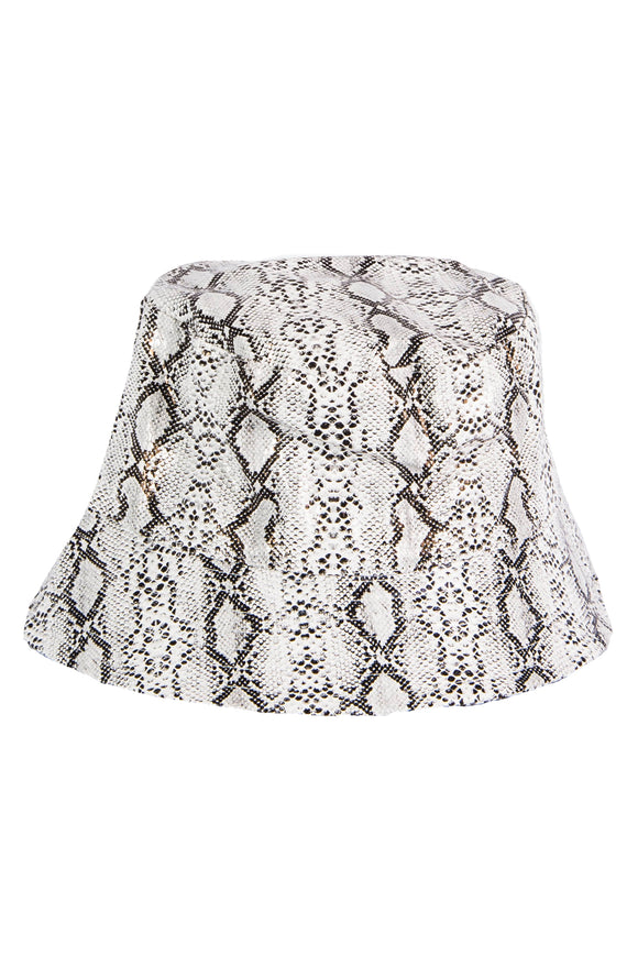 Snakeskin Bucket Hat - Grey
