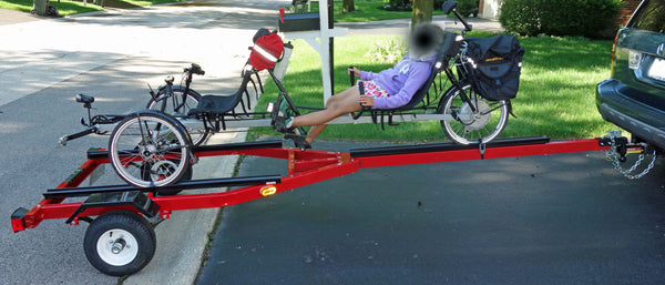Trailer Option for Transporting Single or Tandem Trike at Amlings Cycle