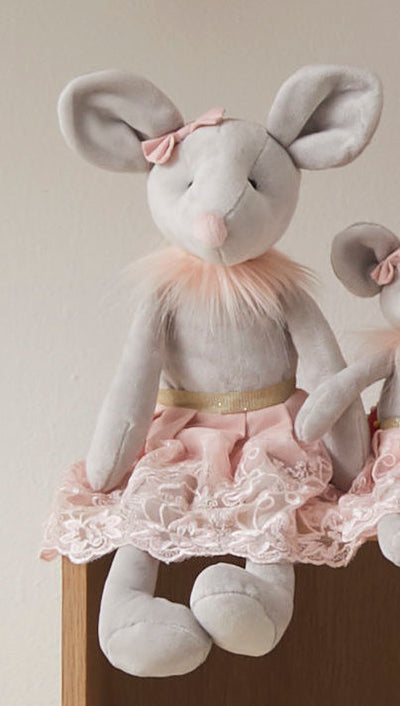 Milly and Molly Ballerina Plush Mice