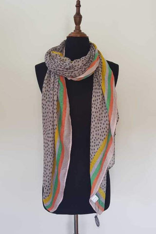 Rainbow Dot Scarf