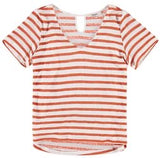 Burnt Orchre Striped Tee