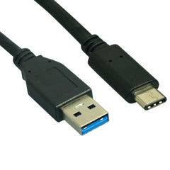 Lin Haw USB 3.1 A to type C (USB-C) Cable Black 3 feet