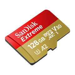 SanDisk Extreme UHS-I microSDXC Memory Card with SD Adapter 128GB